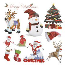 Christmas Stickers Iron On Applique Patches For Clothing Heat Transfer PatchLDPT