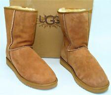 NIB Ugg Australia (M72) Classic Short Boots Chestnut Suede Sheepskin Mens SZ 14