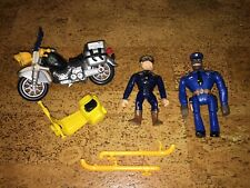 Vintage Police Academy Figures motorcycle Vehicles toy Lot