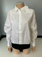 Tibi New White Shirt Leotard  Us 4 Uk 8 Bnwts