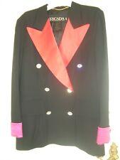 Lujo DISEÑO Escada noche blazer esmoquin Swarovski brillo 38/40 rosa negro