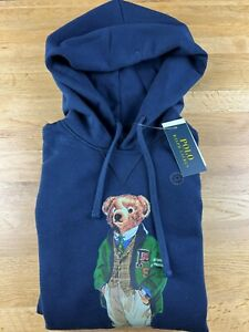 Polo Ralph lauren Teddy hoodie Navy Slim fit S M L XL