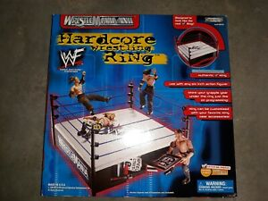 WWF Hardcore Action Wrestling Ring WrestleMania XVII Jakks Pacific 2000 HTF NEW