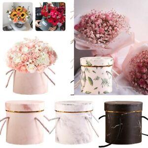 New Round Flower Boxes Handheld Bouquet Vases Florist Plant Boxes