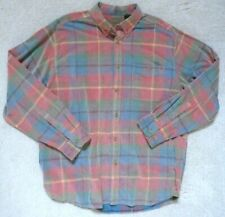 Clear Water Outfitters Men's Soft Corduroy Plaid Button Down Shirt XL