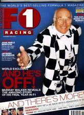 F1 RACING MAGAZINE November 2001 Murray Walker Montoya Villeneuve Hakkinen