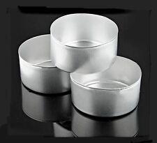 25 Aluminum Tea Light Candle Cups Molds + Wicks ~ FLASH SALE