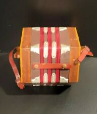 Renelli Concertina Mahogany Made in Italy Mini Accordion Vintage
