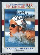 Tracy Caulkins signed autographed AUTO 1991 HOF Olympic card #45 Swimming Gold
