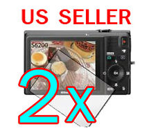 2x Nikon Coolpix S6200 Digital Camera LCD Screen Protector Guard Film
