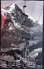 SWITZERLAND~SCHWEIZ~1950s GRINDELWALD ~ FIRSTBAHN ~ SKI CHAIRLIFT ~ RPPC