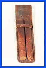 1920-30, Brown soennecken cuir étui, Old Fountain pen iléostomie