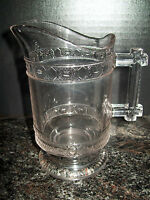 1880'S EAPG DOYLE AND CO.TWO BAND HANDLED PITCHER, CREAMER