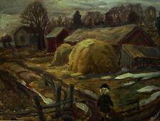 Olle Nordberg 1905-1985, granja con niño, fechado 1947