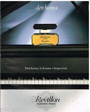 Publicité Advertising 1991 Parfum Detchema Revillon