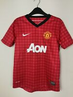Manchester United 2012/2013 Nike Home Vintage Football Shirt Kit Boys 10-12 Year