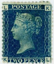 1869 Great Britain Stamp #30 2p blue (plate 14), MINT, H,