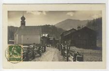 AK Davos, Laret, Dorfpartie, Foto-AK 1924