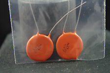Two NOS Sprague Ceramic Disk .1 uF 1K Vdc Audio Tone Capacitors