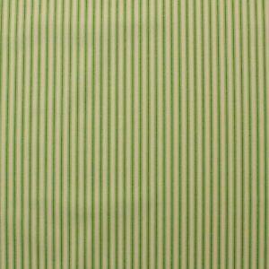"COVINGTON WALLACE GREEN CREAM TICKING STRIPE 100% COTTON FABRIC BY YARD 54""W"