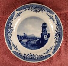 "KAHLA PORZELLAN Canaletto (1720-1780) COBALT BLUE 9 1/4"" PLATE MADE IN GERMANY"
