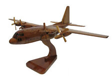 USAF Air Force C-130 Hercules Military Cargo Wood Wooden Mahogany Desktop Model