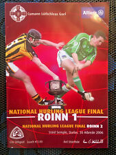 SIGNED 2006 GAA NHL Div I & II Finals Kilkenny v Limerick & Dubs v Kerry Program