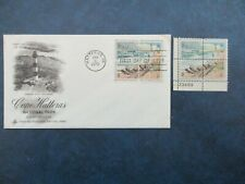 CAPE HATTERAS:  USPS  First Day Cover & Plate Block of Stamps  #1451a