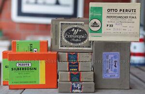 Perutz, Agfa, Hauff Fotoplatten 9x12cm, alte Neuware, 10 Pakete, 4 ungeöffnet