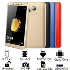 """5.0"""" Android 7.0 Smartphone da S9 Dual 3G SIM GPS Telefono Cellulare Sbloccato"""