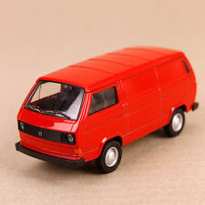 1982 T3 Volkswagen Transporter Kombi Model Van 11cm DieCast Metal Red Pull-Back