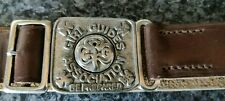 More details for 'john leckie' walsall girl guides leather belt - rare original - see photos