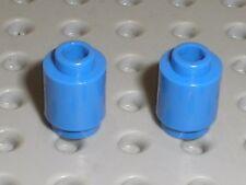 2 x cylindre LEGO chateau castle RoyalBlue cylinder ref 3062b / Set 8780 & 8781