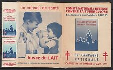 FRANCE CARNET TIMBRE **  ANTITUBERCULEUX  32 ° CAMPAGNE NATIONALE
