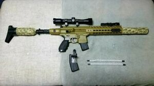 SIG SAUER MCX 177 CALIBER AIR RIFLE with extras