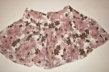 Aeropostale Womens Mini Skirt Pink Brown Size 0 Floral Cotton Pleated