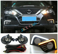 For Nissan Altima 2016-2018 LED DRL Turn Signal Light Fog LED Bulb Harness k Set
