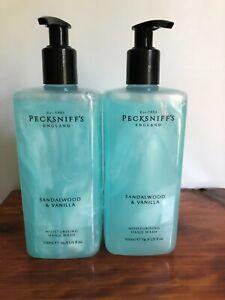 Two New Pecksniffs Sandalwood & Vanilla Moisturizing Hand Wash Same Day Ship