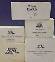 5 DEPARTMENT 56 HERITAGE VILLAGE COLLECTION SETS ACCESSORIES #3
