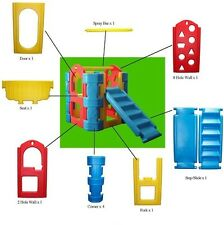Plastic Play Gym Slide Steps Tough Strong Fun Outdoor Boy Girl Outdoor