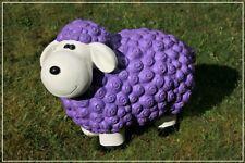 Dekofigur Schaf Bärbel in lila bunte Tier Figuren für Haus und Garten Dekoration