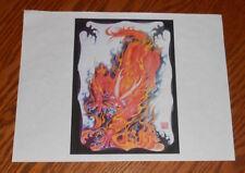 Red Dragon Fire Tattoo Flash Sheet Vintage Art Print 8.5x11