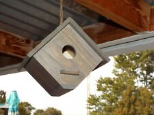 Birdhouse. Weathered Oak Finish Wood Home for Your Feathered Friends
