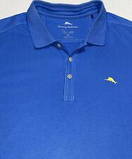 Men's Tommy Bahama Blue Embroidered Supima Cotton Polo Shirt Sz 2XLT