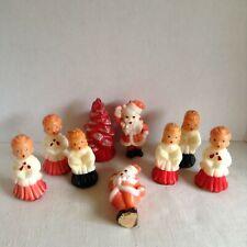 Vintage Lot of 9 Gurley CandlesChristmas Tree Santa Choir Unused