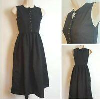Vintage Usar Trachten Traditional German Oktoberfest Black Sleeveless Dress 8