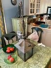 Antique Hanging Glass and Metal Light