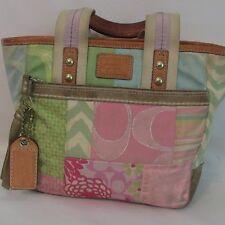 Authentic Coach 2006 Hampton's Weekend Pastel Patchwork Small Tote Handbag
