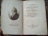1824 DESCRIZIONE DI GERUSALEMME E LUOGHI SANTI DI CHATEAUBRIAND. ILLUSTRATO RARO