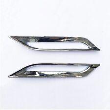 Pair Rear Fog Light Lamp Silver Chrome Cover Frame for Smart Fortwo 453 15-19